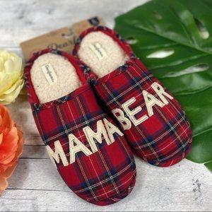 Dearfoam plaid mama bear slippers L 9-10